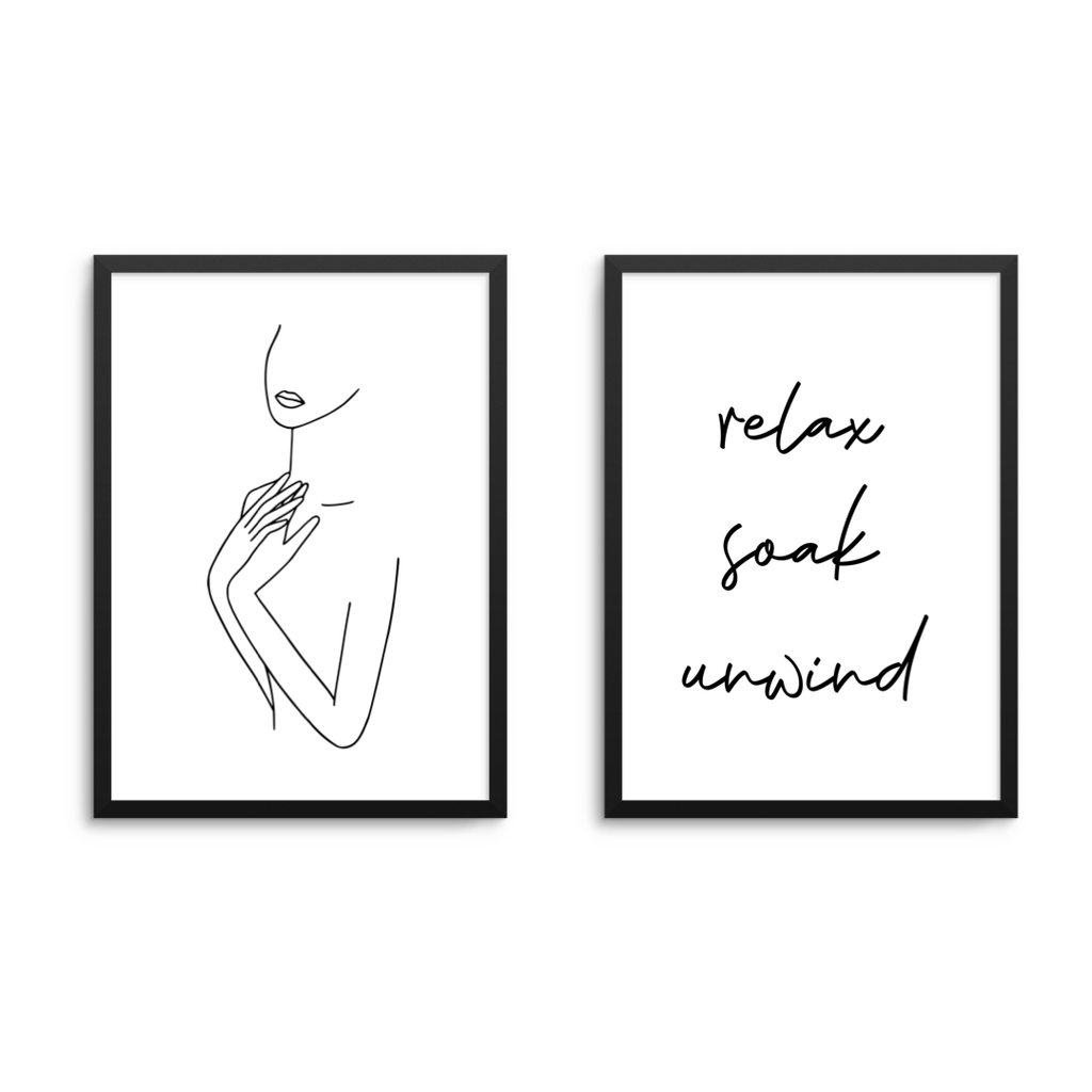 Relax Soak Unwind & Lady Print Duo - L&O Designs