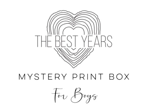 Mystery Print Box - Prints For Boys