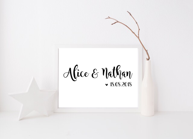 Couples Names & Date - L&O Designs