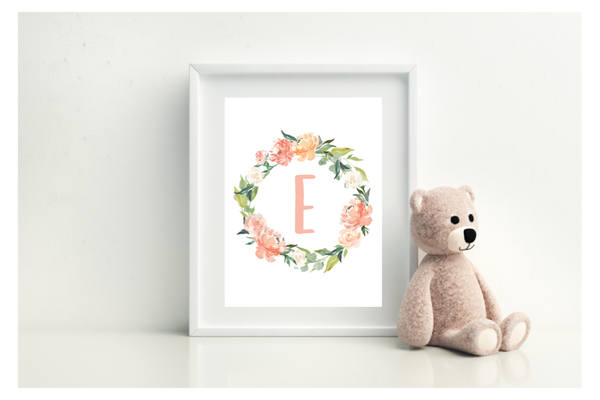 Floral Wreath With Initial - L&O Designs