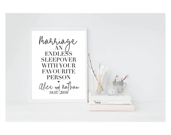 Marriage - An Endless Sleepover - L&O Designs