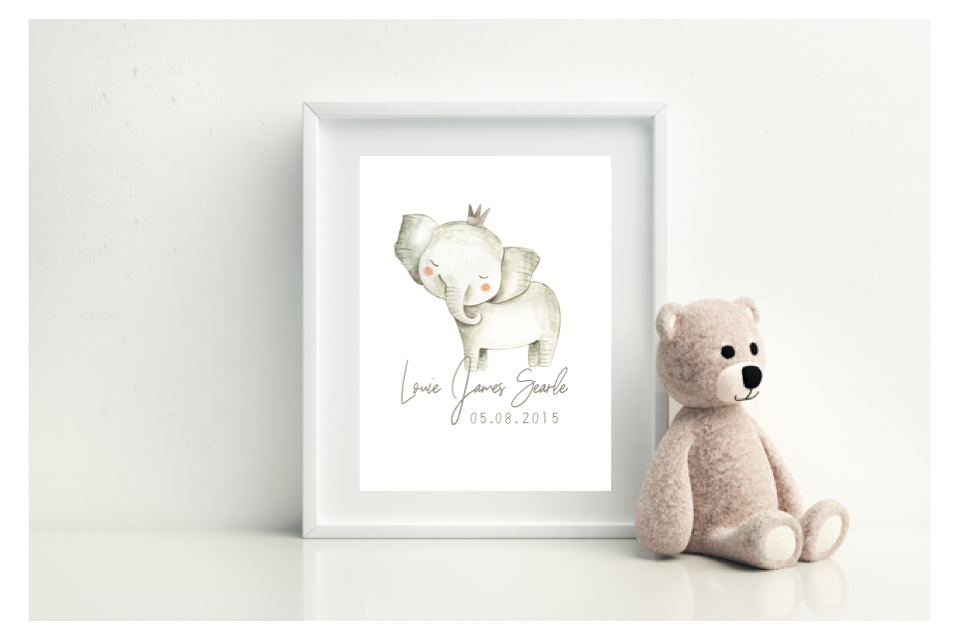 Elephant Birth Print - L&O Designs