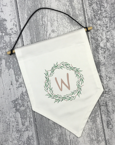 Leaf Wreath Banner - L&O Designs