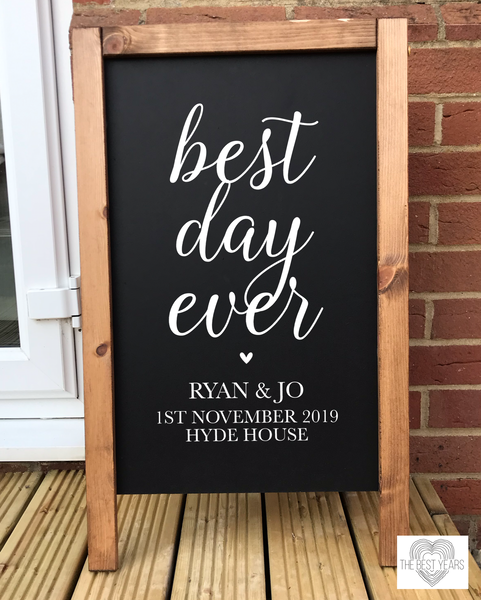 Best Day Ever Blackboard Sign - L&O Designs