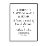 A House Is Made Of Walls & Beams. A Home Is Made Of Love & Dreams - L&O Designs
