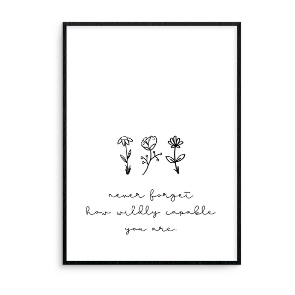 Never Forget How Wildly Capable You Are - L&O Designs