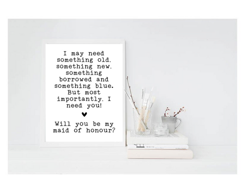 Will You Be My Maid Of Honour? - L&O Designs