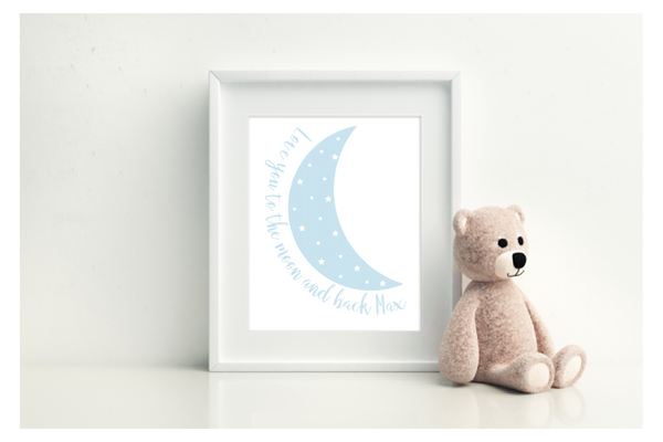Love You To The Moon & Back - Personalised - L&O Designs