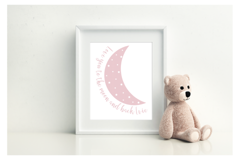 Love You To The Moon & Back - Personalised