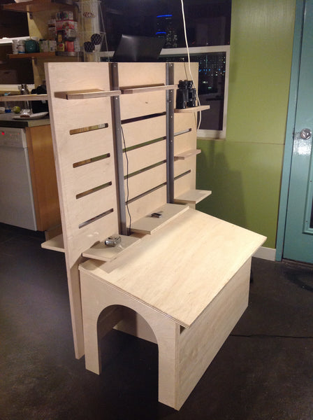 Adjustable Standing Desk with Dog House