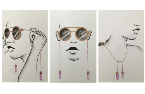 How to wear My Willows crystal boho style sunglasses