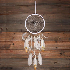 Feather and gold dreamcatcher