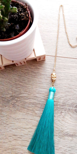 Skull tassel necklace THE TEMPLE WOLF