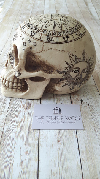 SUN AND MOON SKULL WITCH SHOP THE TEMPLE WOLF IRELAND