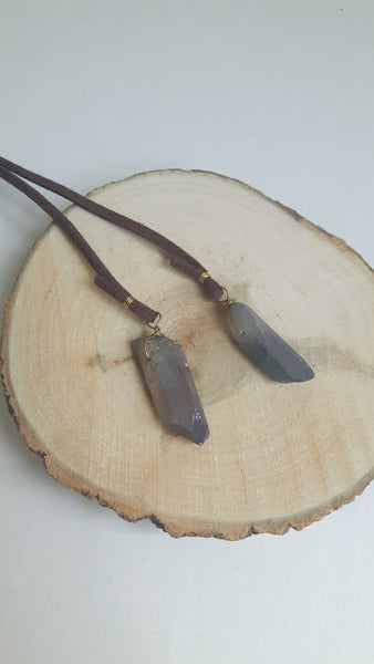 LARIAT QUARTZ NECKLACE