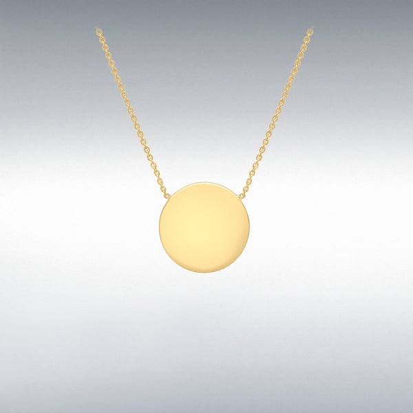 Gold disc pendant necklace boho jewellery ireland