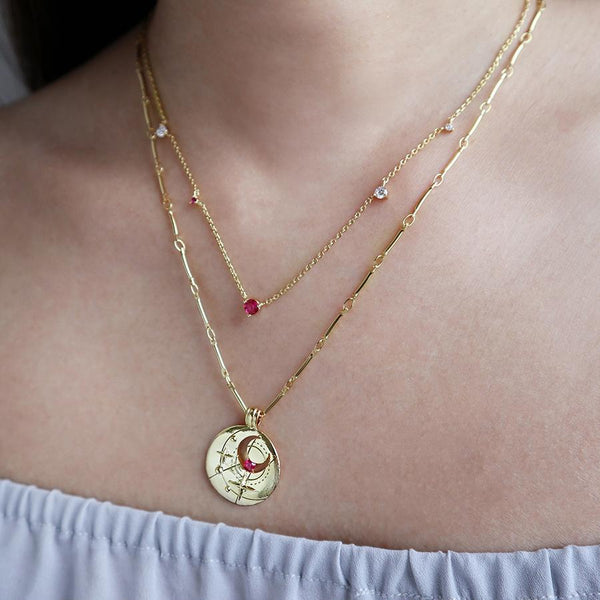July Birthstone Star necklace from The Temple Wolf and Wanderlust+Co