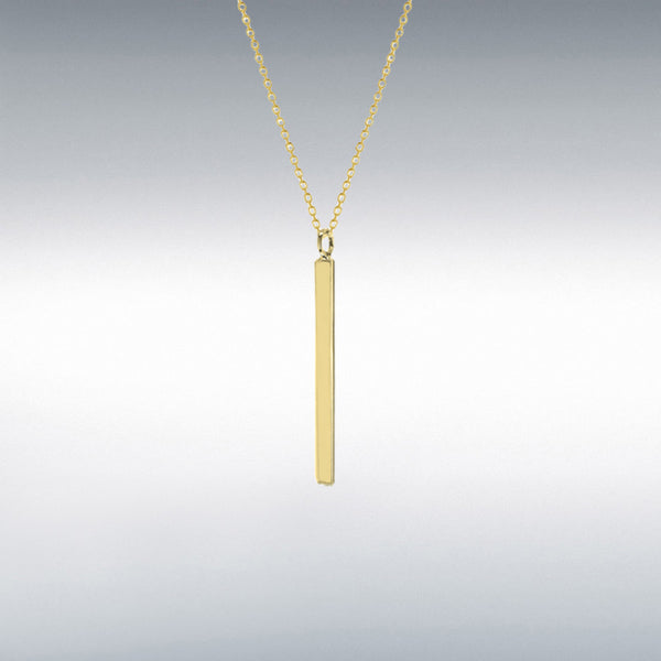 Gold plated sterling silver 925 bar necklace from THE TEMPLE WOLF