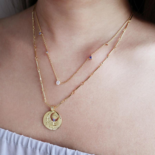 September Virgo Libra Necklace