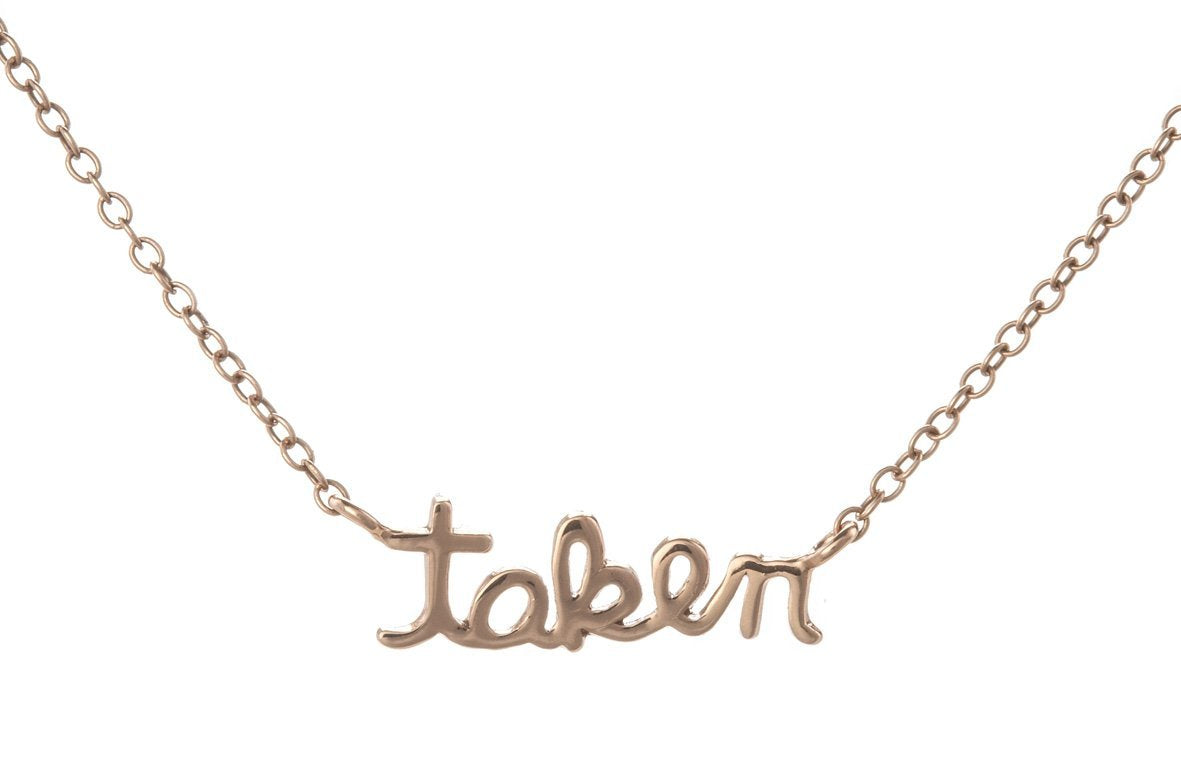Taken necklace in rose gold