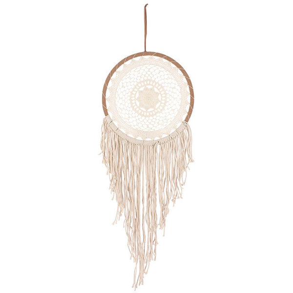 CREAM CROCHET DREAMCATCHER