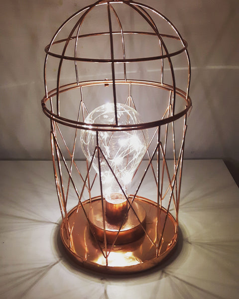 COPPER GEOMETRIC DOME LIGHT