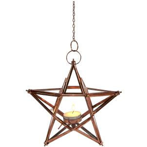COPPER STAR HANGING LANTERN
