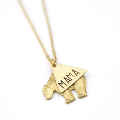 Mama bear pendant The Temple Wolf Peachtree Lane
