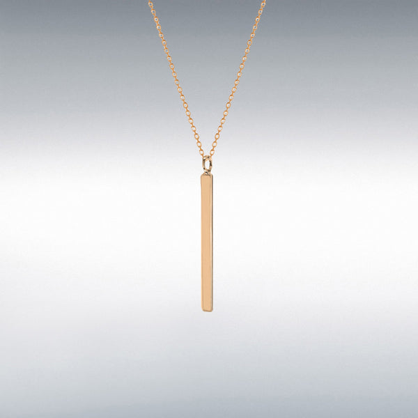 Rose gold plated sterling silver 925 bar necklace from THE TEMPLE WOLF IRELAND