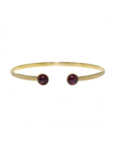 Garnet bracelet bangle THE TEMPLE WOLF boho shop