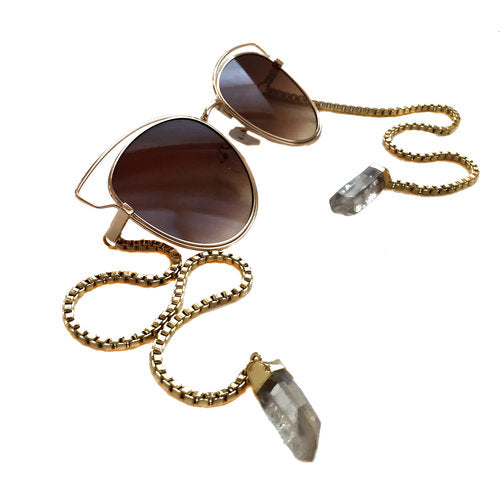 Cat eyes crystal sunglasses by My Willows Ireland