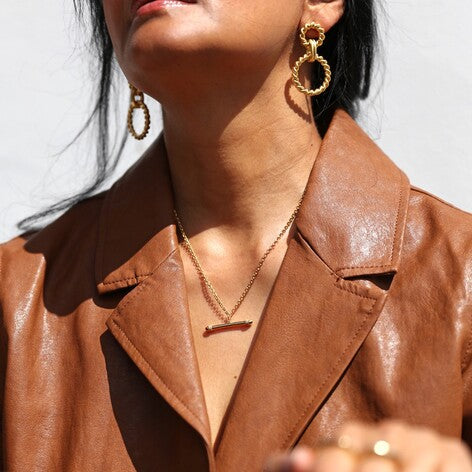 TBar chain statement necklace