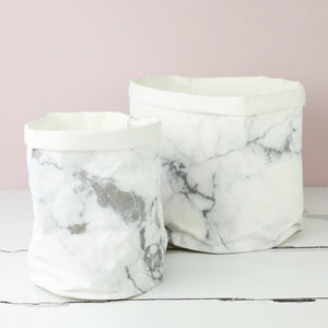 Marble effect paper storage gift bag
