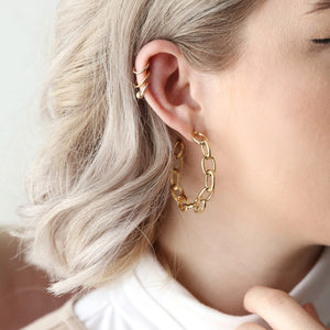 Chainlink statement earrings THE TEMPLE WOLF