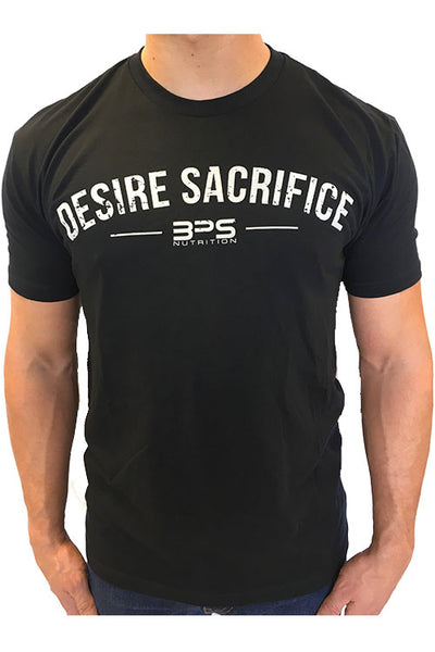 BPS - DESIRE SACRIFICE, Black t-shirt.