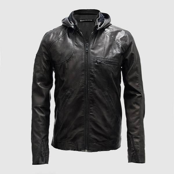 System Leather Jacket