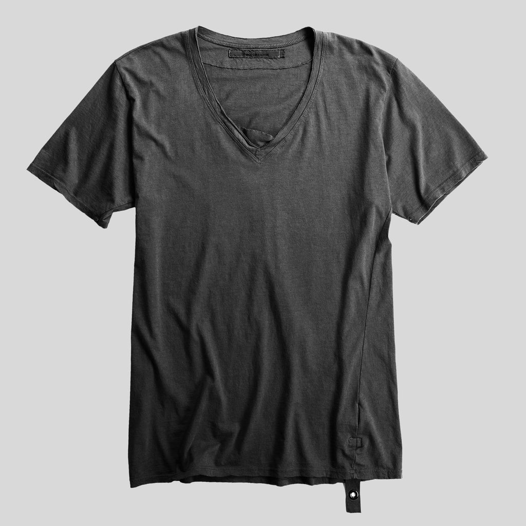 Raw V-neck Black