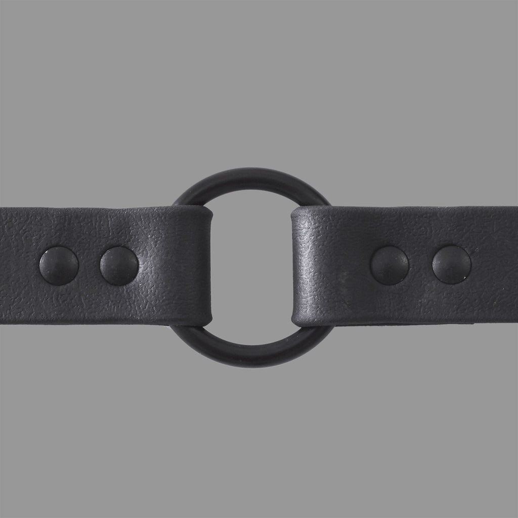 DOG COLLAR RUBBERIZED BLACK