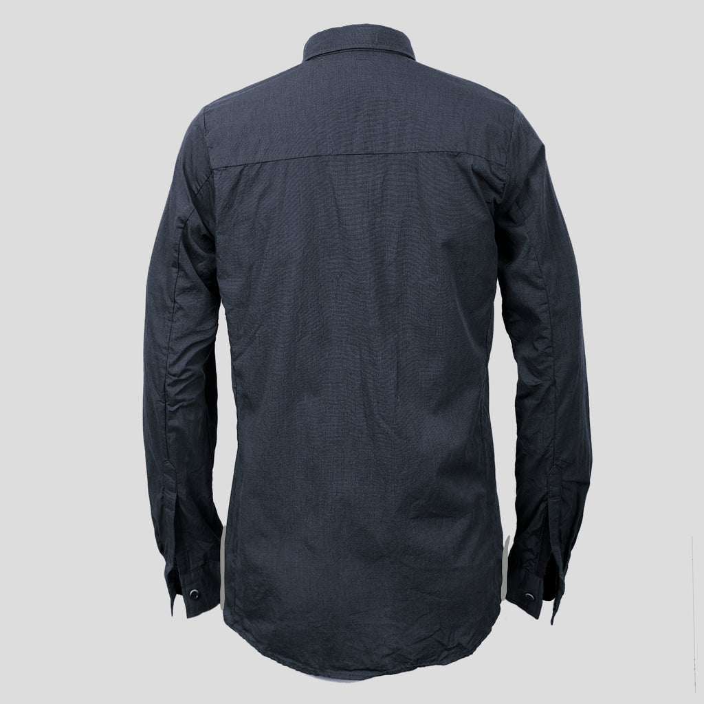 STANDARD ISSUE BUTTON UP DARK BLUE