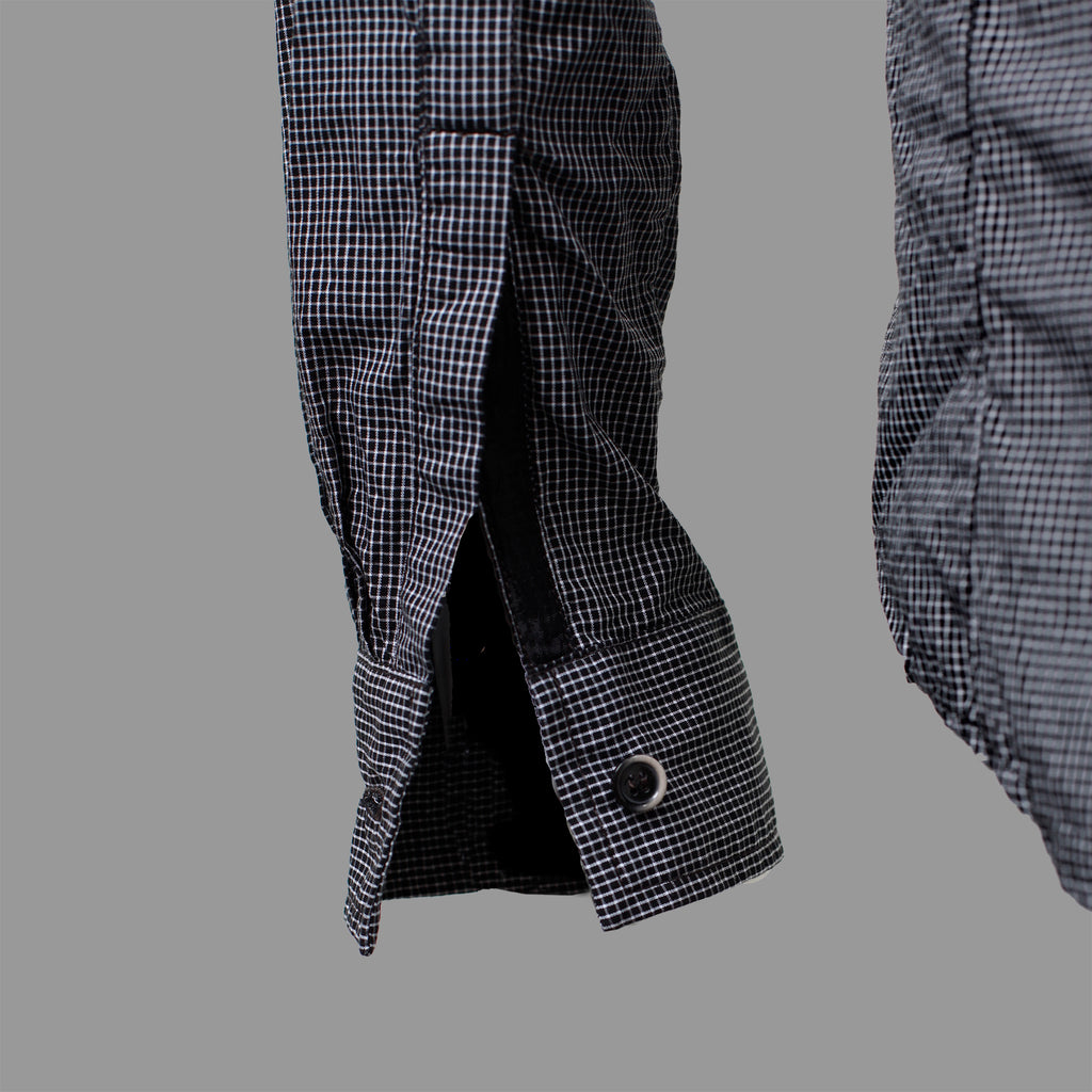 STANDARD ISSUE BUTTON UP BLACK GRID