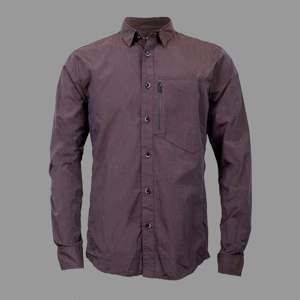 STANDARD ISSUE BUTTON UP EGGPLANT