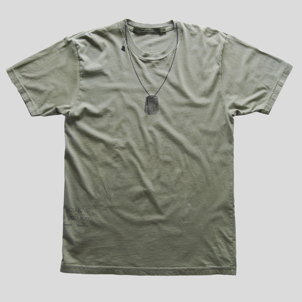 Dog tag t-shirt