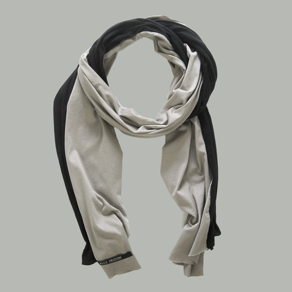 FLAG SCARF GREY