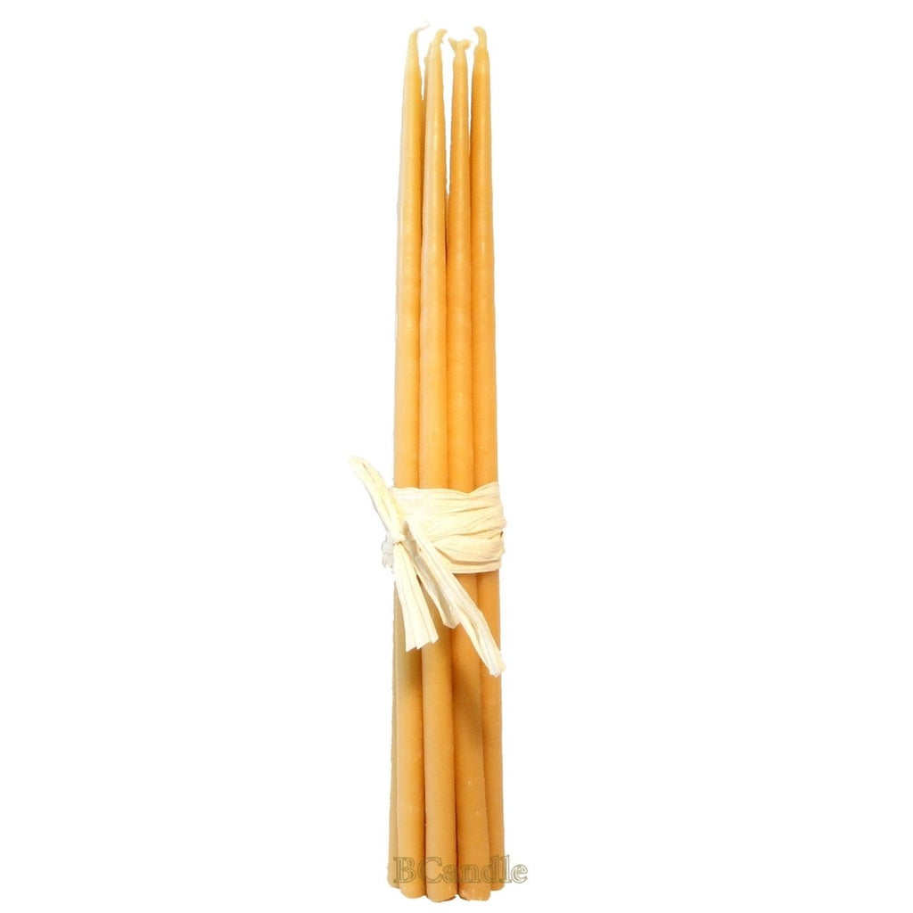 "100% Beeswax 4 hour burning Candles Organic Hand Made - 11"" Tall (each) - BCandle"