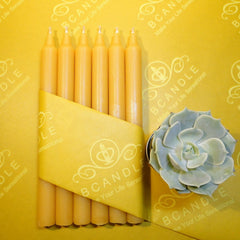 "100% Beeswax Candles Organic Hand Made - 7 1/2"" Tall, 3/4"" Thick (each) - BCandle"