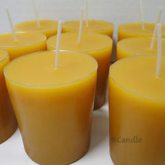 100% Pure Beeswax 15-hour Votives Candles Organic Hand Made