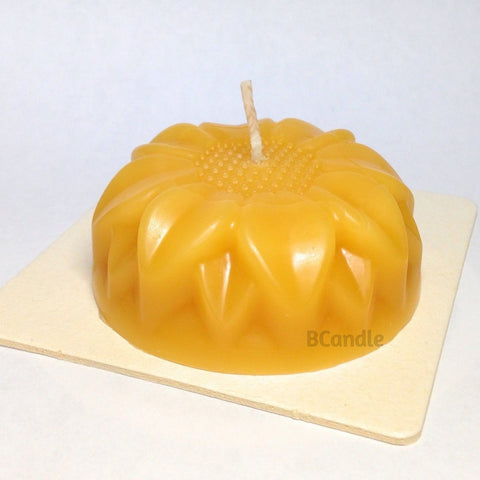 "Candle Flower 100% Pure Beeswax - 3"" x 3"" with Square Coaster - BCandle"