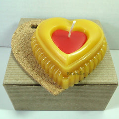 "Heart Candle - Beeswax Candles - Decorative Beeswax Candle - 3""x1"" - BCandle"