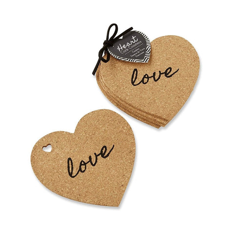 Heart Cork Coasters Candle Plate (set of 4) - BCandle