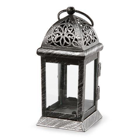 Lantern - Metal - Black - 6 inch Tall - BCandle